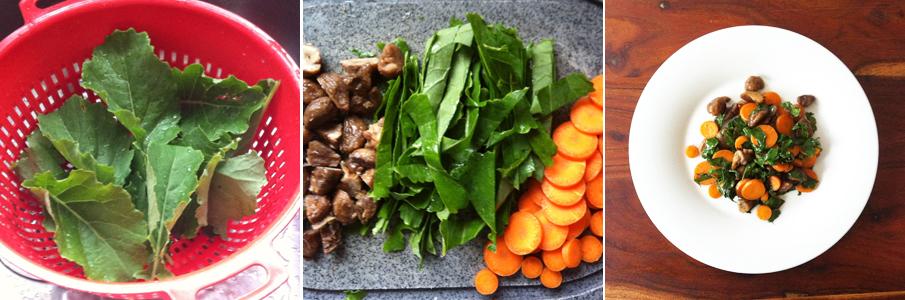 Gemüsepfanne: Ewiger Kohl mit Möhren und Maroni