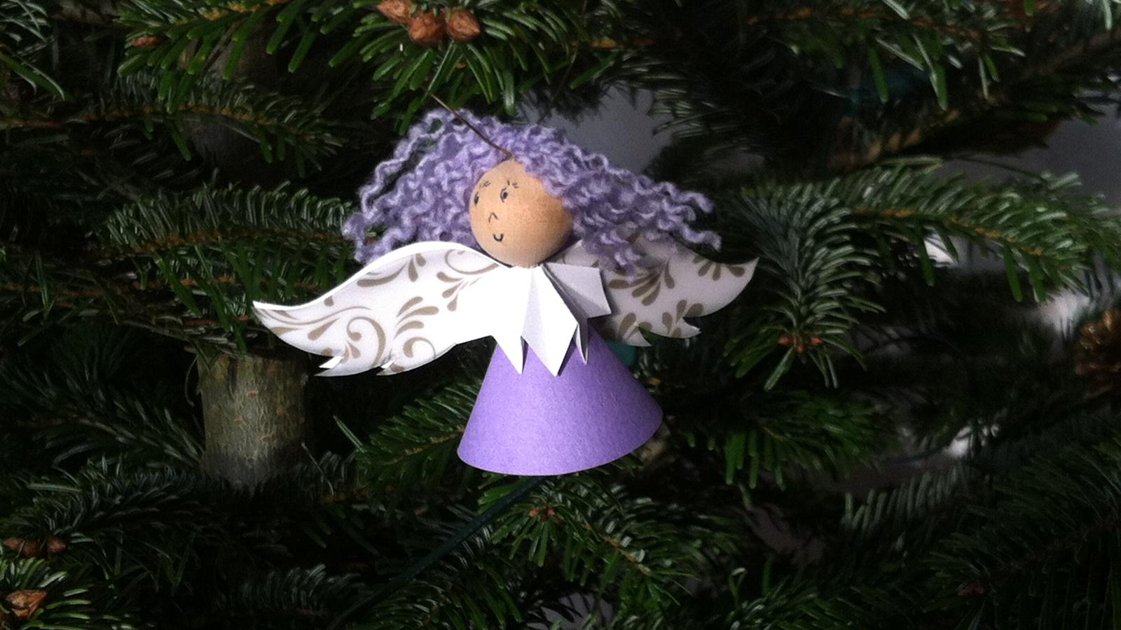 Bild eines Weihnachtsengels