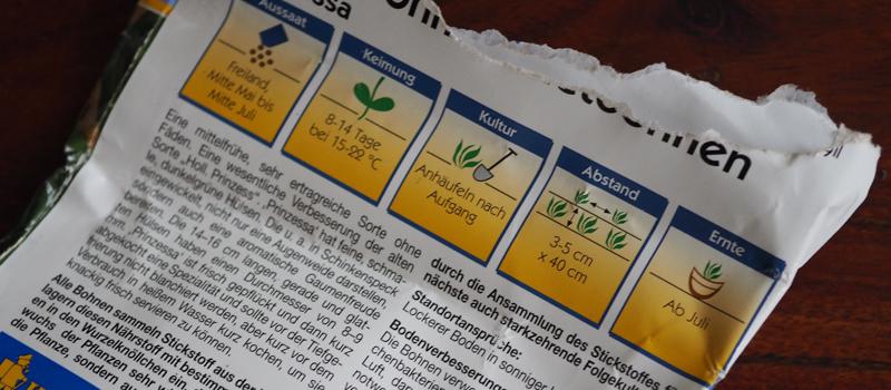 Anleitung zum Anbau von Buschbohnen